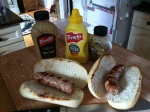 Grab some mustard!  Do not leave those brats naked!