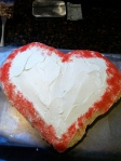 Our heart cake for Valentines Day.