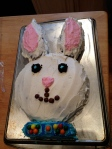 Our fun bunny cake!