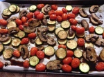 The roasted vegetables!  Yum!