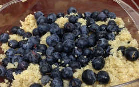 Blueberries and quinoa.  A great start...