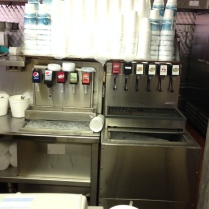 Here is the soda fountain.  Of course hailing from Chicago, I call it pop, but in North Carolina, this is soda.  When in Rome...