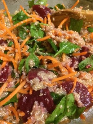 Simple fresh healthy quinoa salad!  Yum!