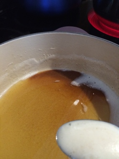 The butter is getting brown and foamy.  The scent wafting from this dish is mmmmmmmm so creamy and luxurious!